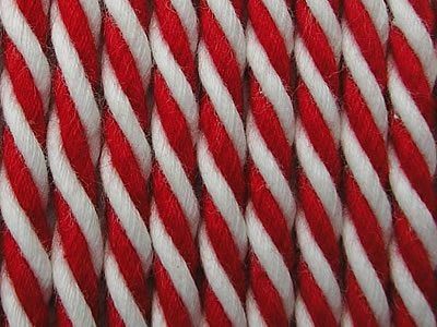 Red Striped Cord | Red and White Striped Rope