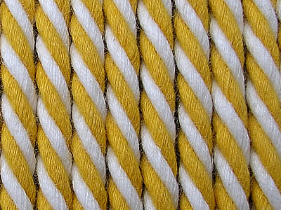Yellow and White Striped Cord | Striped Rope