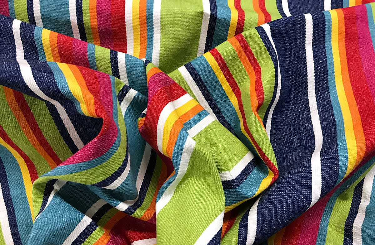 Colourful Stripe Picnic Mat with Carry Bag