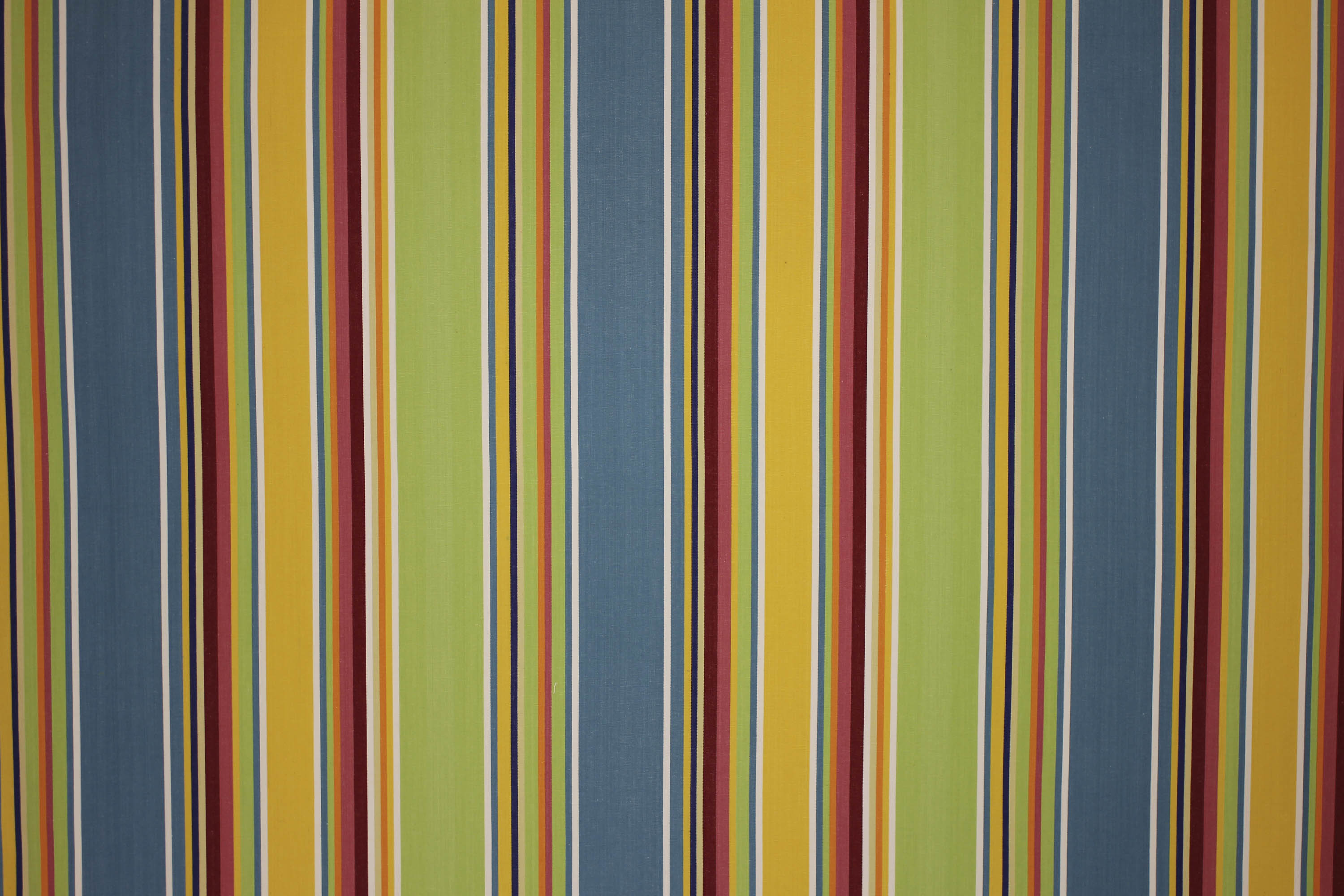Wipe Clean Fabrics | Water Repellent Fabrics | Striped Coated Fabrics Yellow, Green, Blue