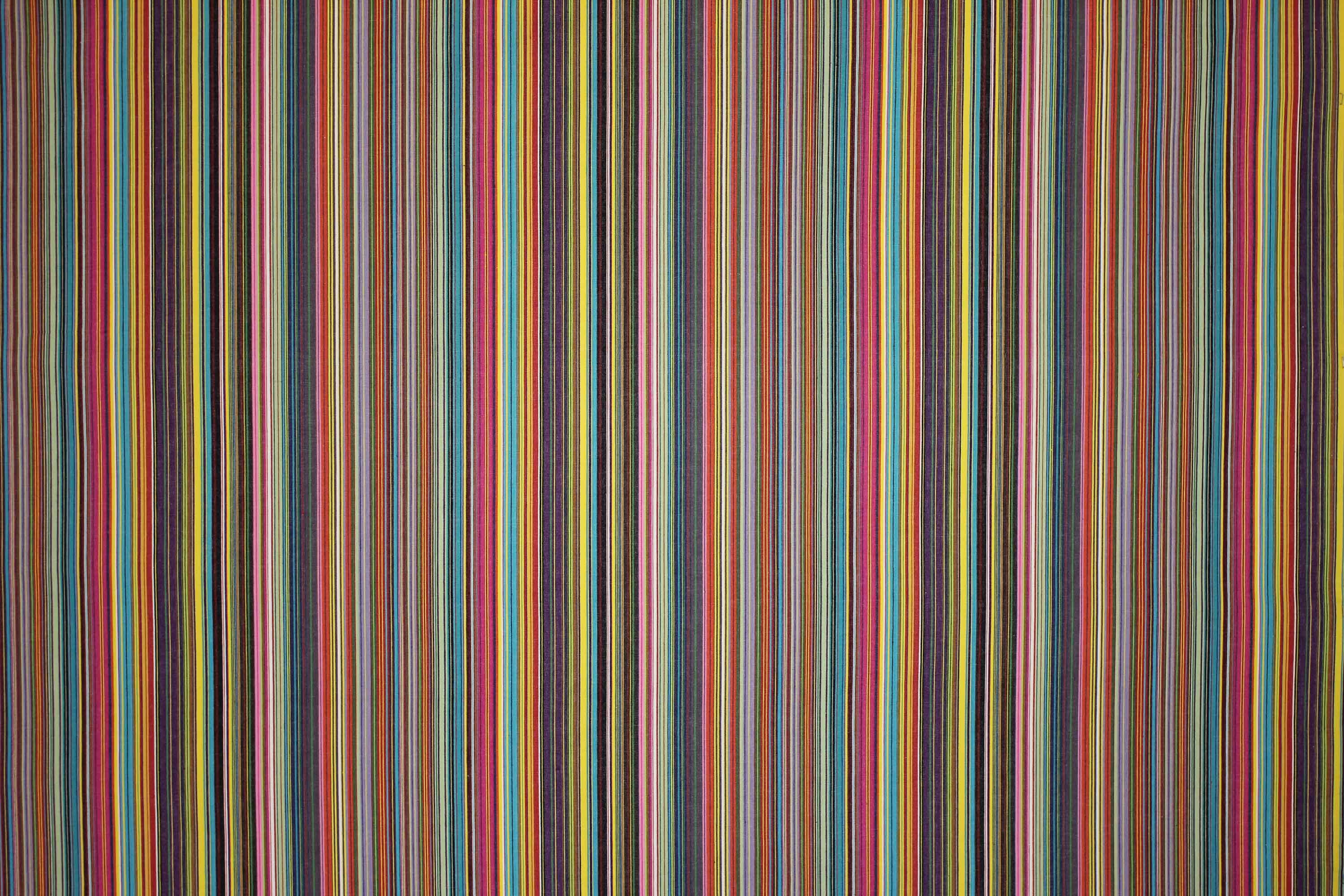 Striped Floor Cushions Thin Rainbow Stripes