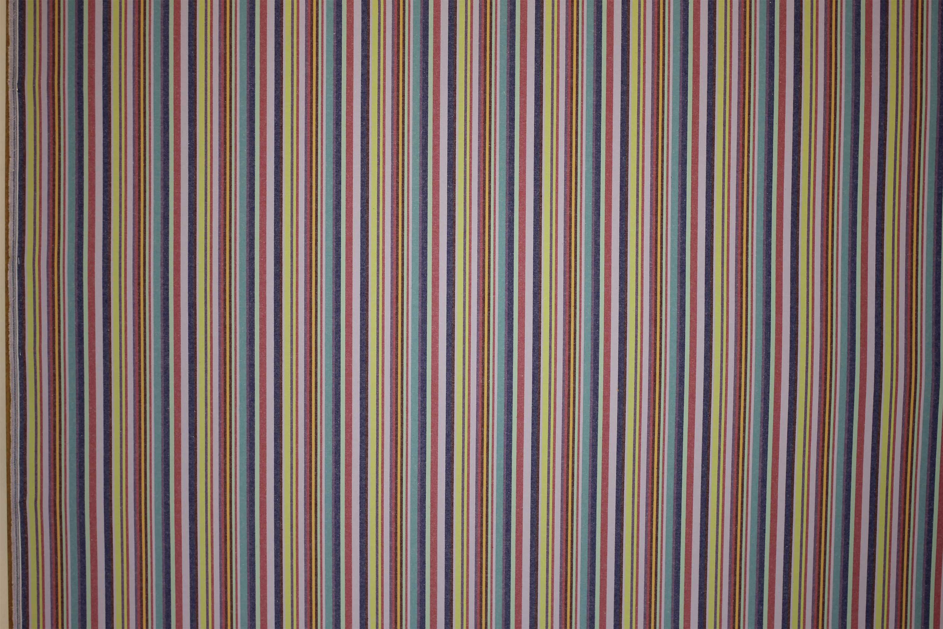 Lavender Striped Oilcloth Fabrics | Wipeable Stripe Fabrics Quickstep Stripes