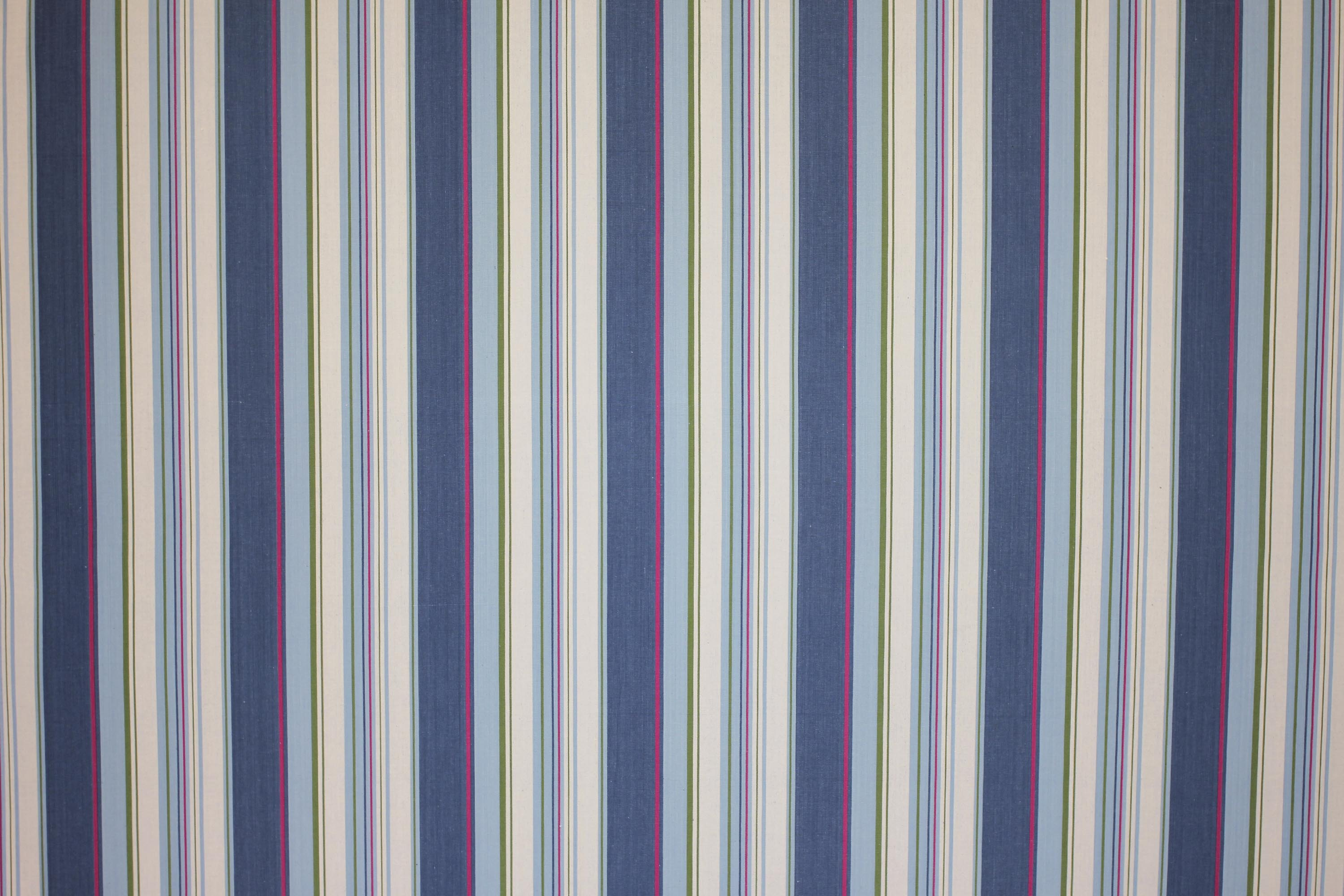Petrol Blue Striped Oilcloth Fabrics | Wipeable Stripe Fabrics Petrol Blue  Pale Blue  Cream  Stripes
