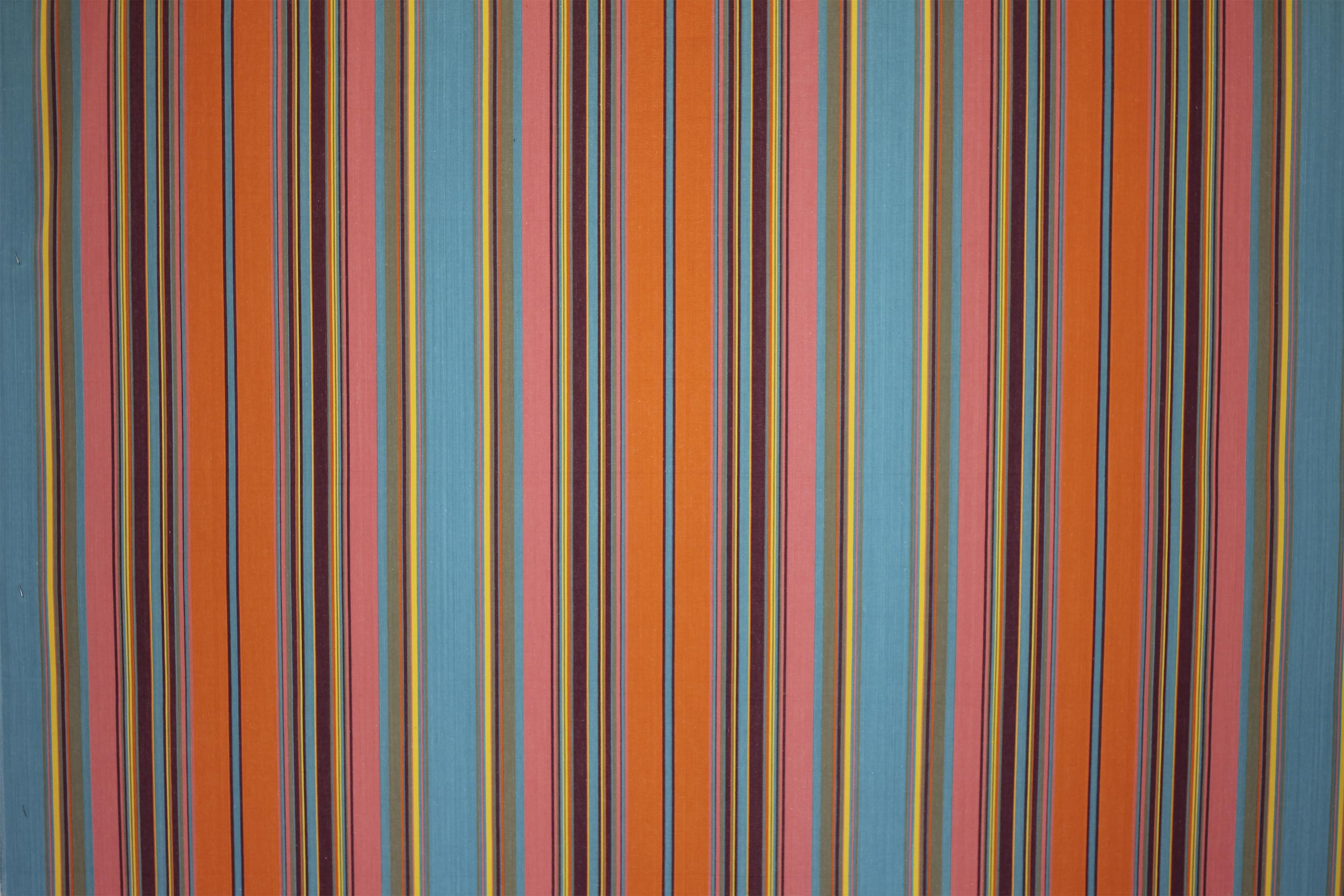 Striped Beach Windbreak - turquoise, salmon pink, tangerine stripes