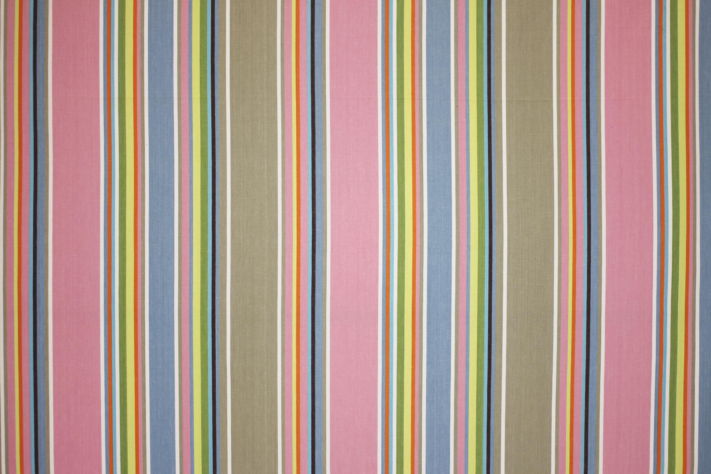 Wipe Clean Fabrics | Water Repellent Fabrics | Striped Coated Fabrics pink, grey, blue