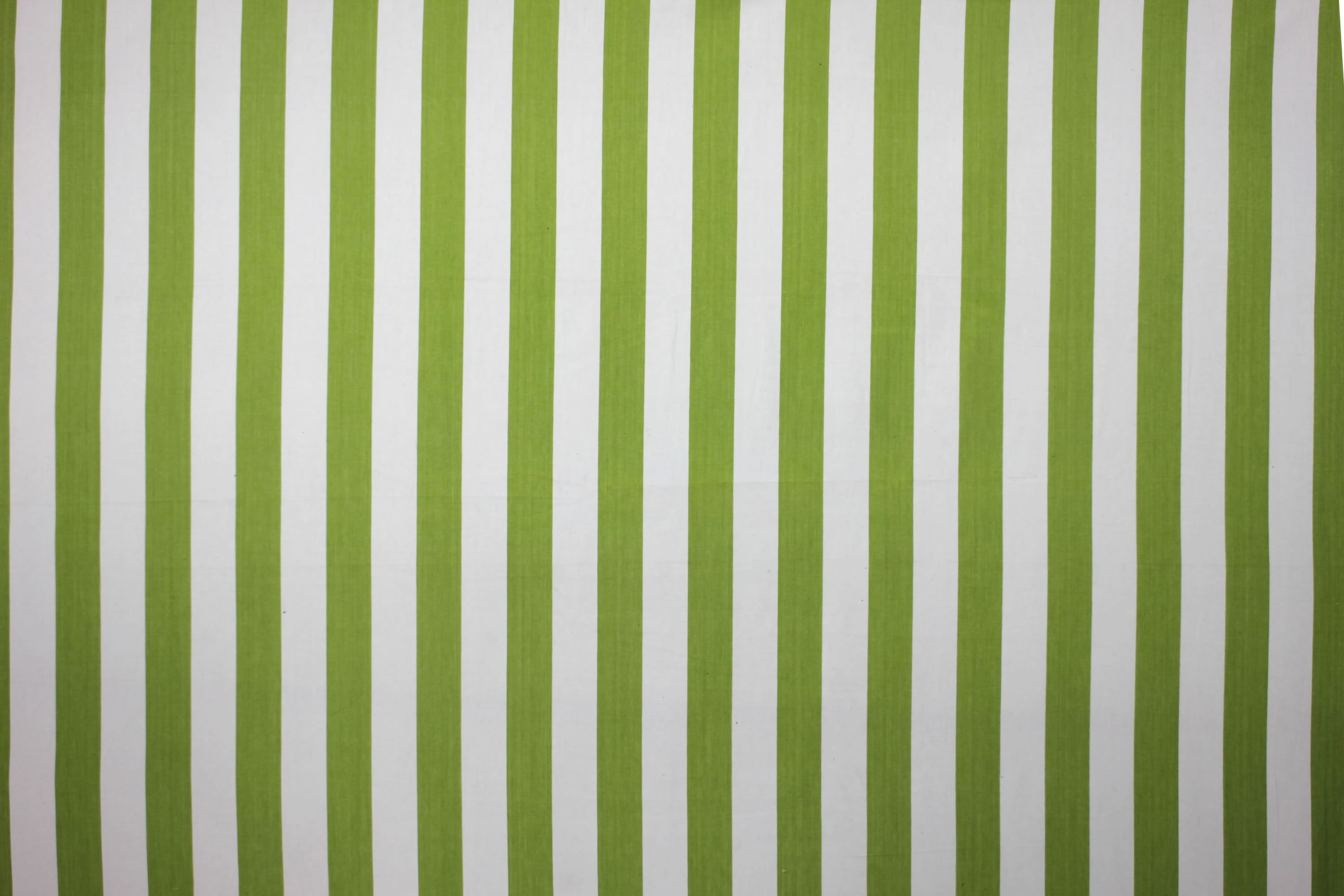 Lime Green and White Stripe Oilcloth Fabric