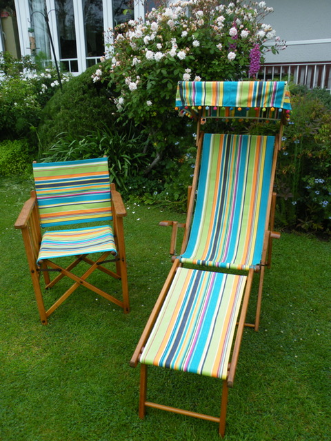 Replacement Director chair covers and Deckchair Canopy