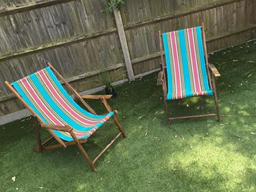 Recovered Deckchairs in Stripesco Vintage Canvas