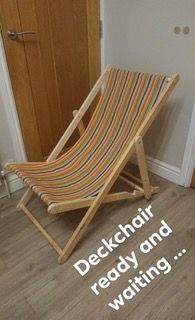 deckchair covered in vintage solitaire deckchair canvas