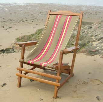 Deckchair fabrics for replacement deckchair slings