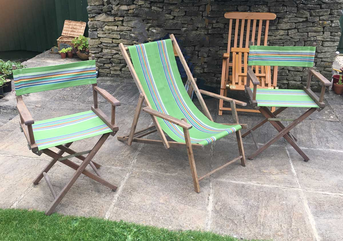 Green Replacement Director chair covers and Deckchair Canvas