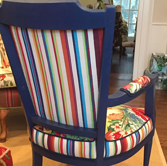 Striped Fabrics for Reupholstering Chairs
