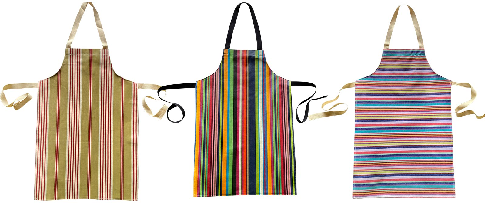 Striped PVC Kids Aprons | Oilcloth Aprons for Children