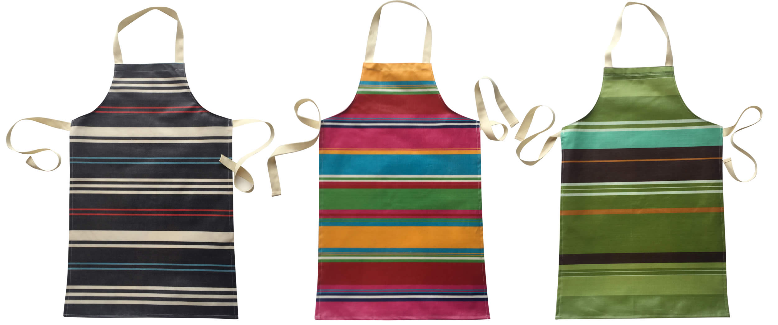Striped PVC Kids Aprons | Childrens Striped Oilcloth Aprons