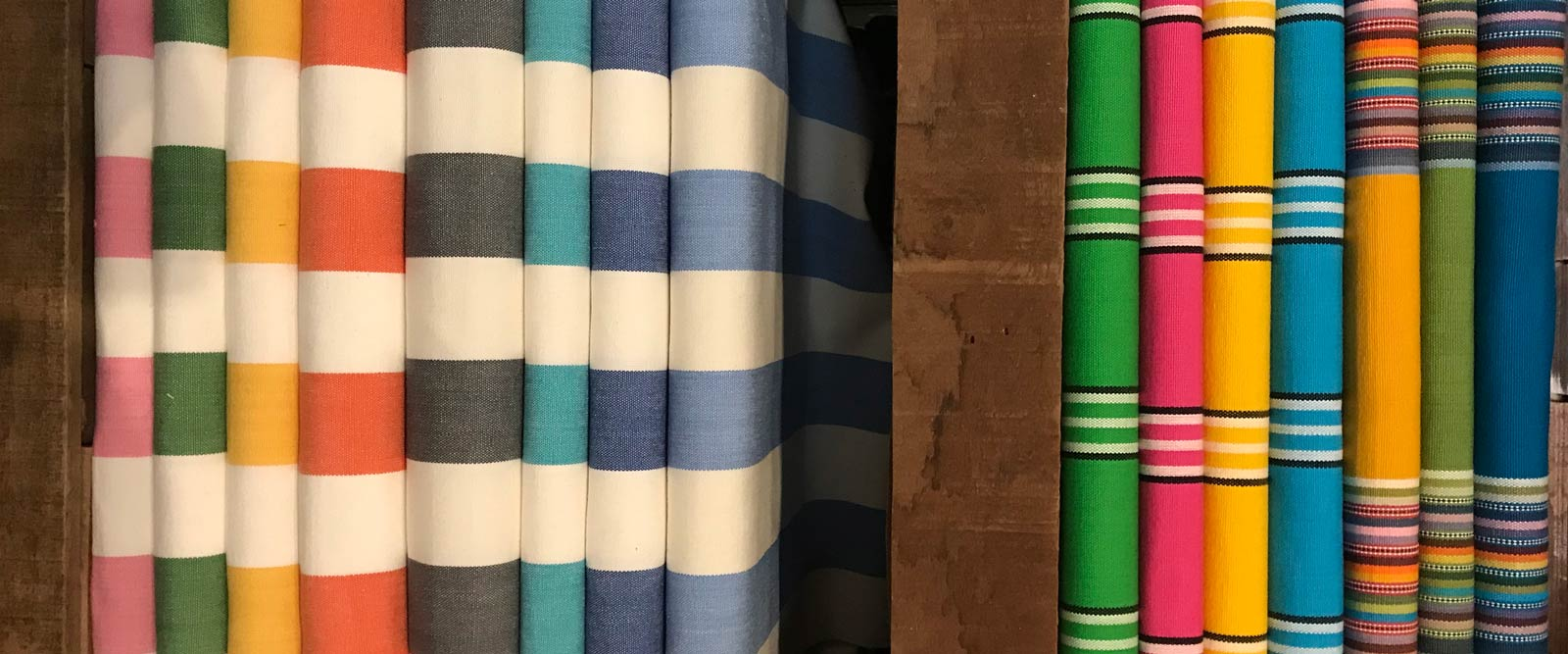 Classic Striped Deckchair Canvas Fabric - Thick Weave