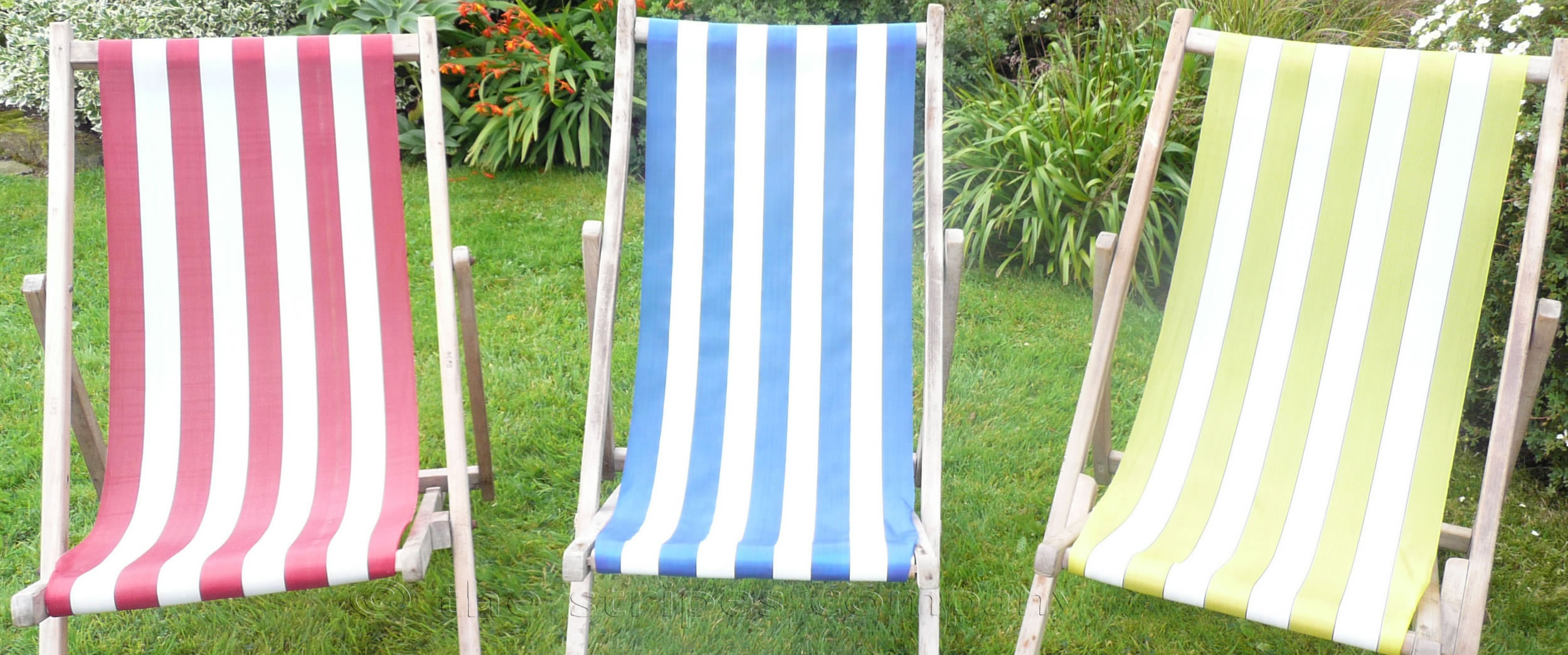 Waterproof Budget Deckchair Canvas | Synthetic Deckchair Fabrics | Polyethelene