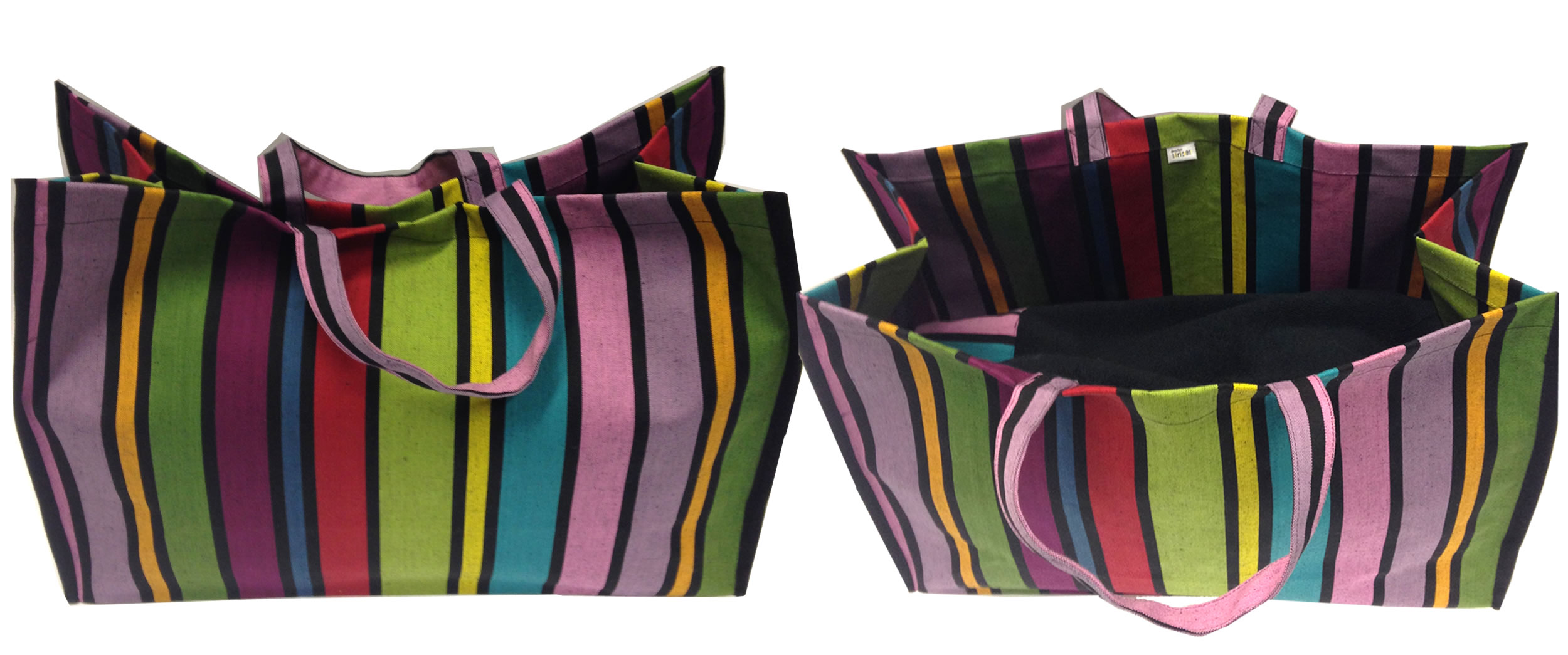 Beach Bags | Striped Beach Bags | Oilcloth Beach Bag