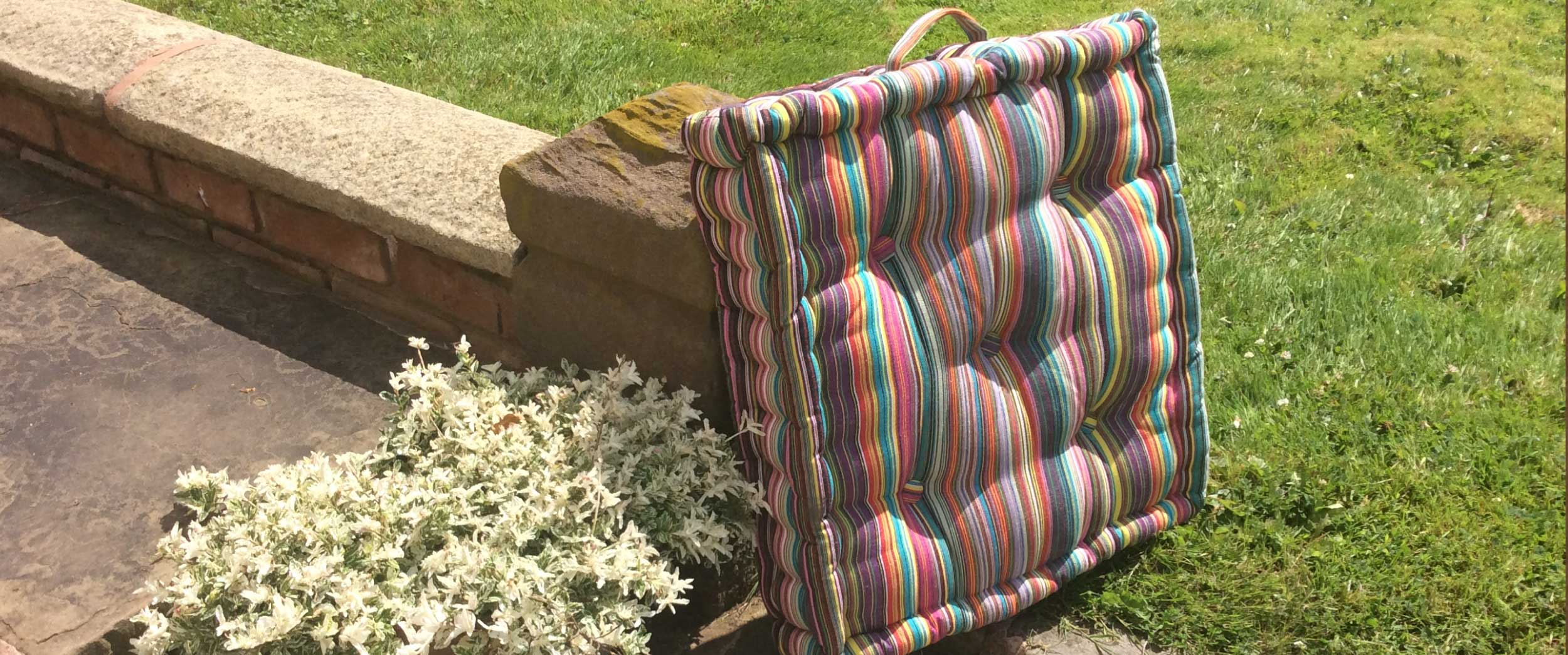 Large Striped Box Cushions