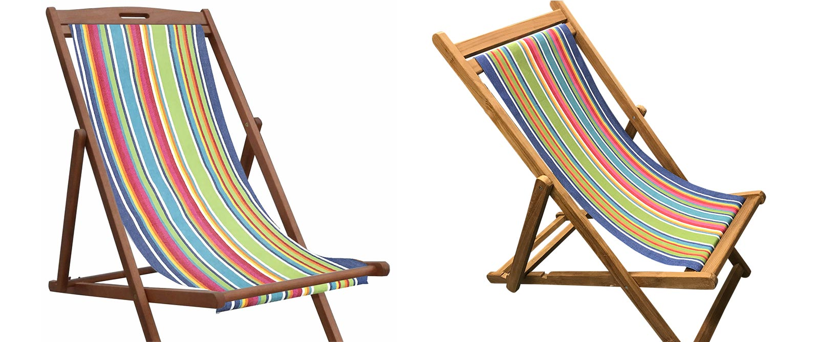 light blue, red - Replacement Deck Chair Slings