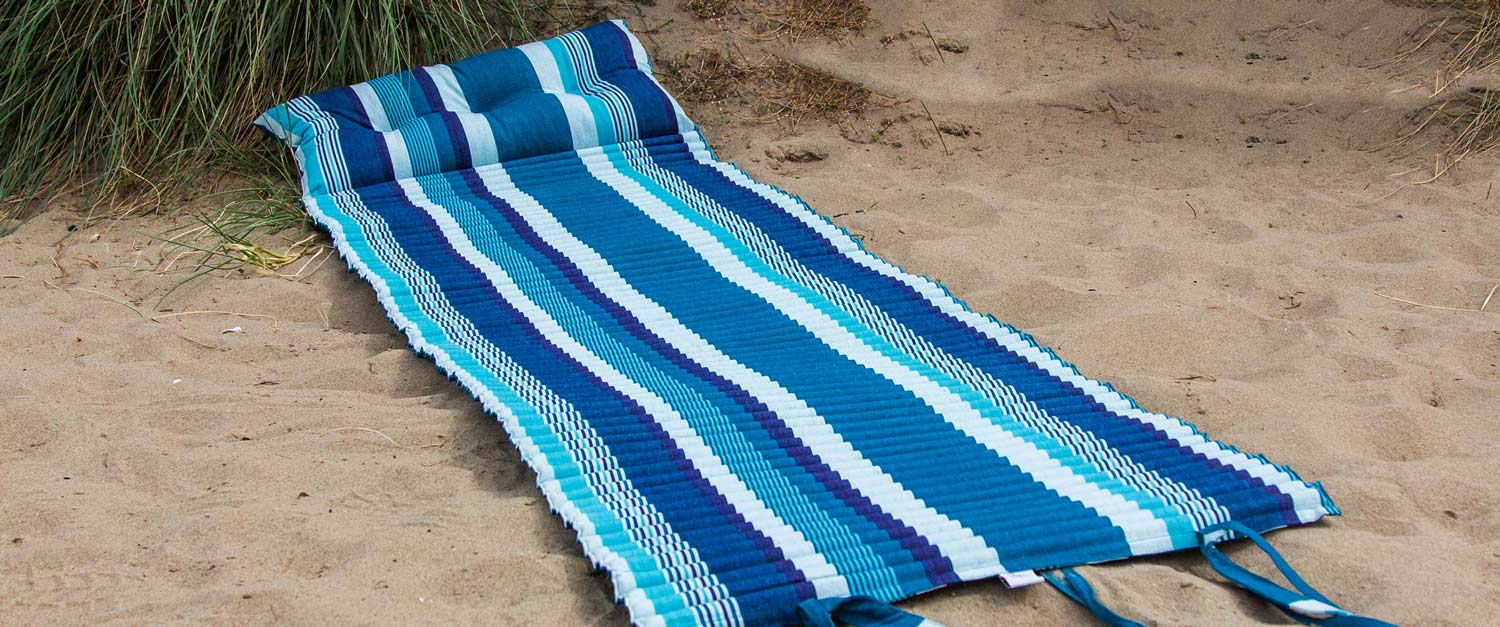 Beach Mats | Roll Up Beach Mattress with Pillow