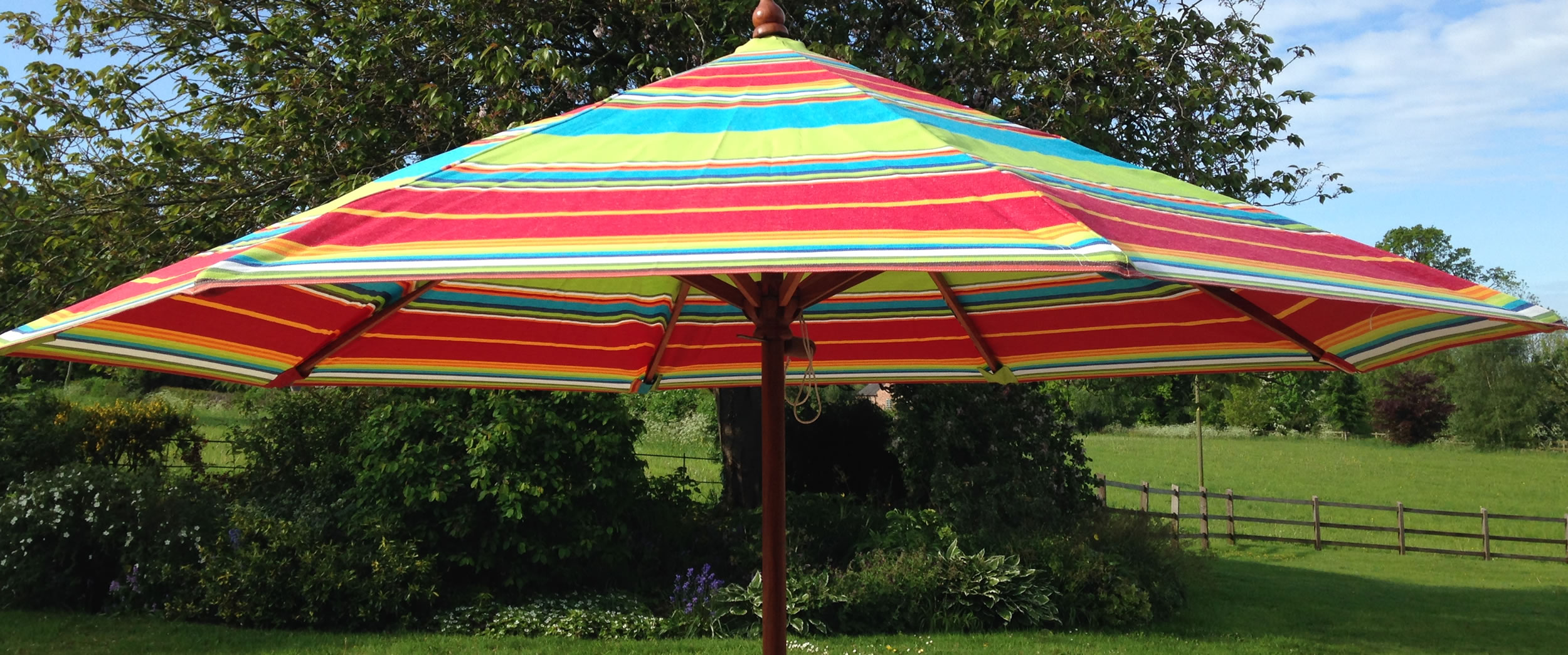 Parasol Striped Large Garden Parasols And Patio Umbrellas