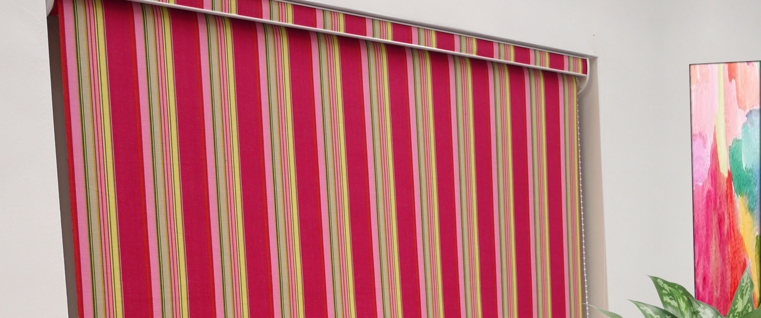 Striped Roller Blinds | Laminated Stripe Roller Blinds
