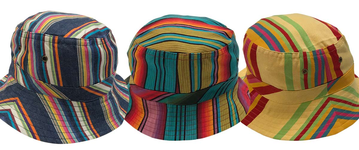 Black Striped Sun Hats | Sun Protection Hat  Shooting Stripes