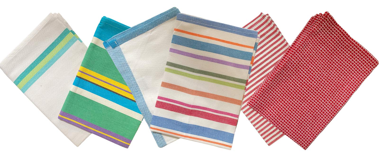 Striped Tea Towel Sets | Set of 4 Teatowels