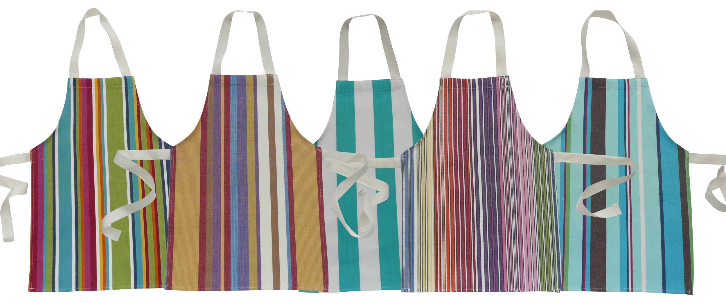 Toddlers Aprons - Striped Aprons For Small Children