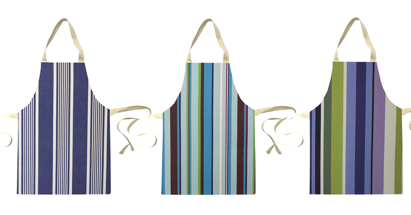 Water Resistant Aprons for Toddlers | Small Childs Striped Aprons