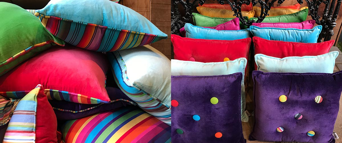 Striped Velvet Cushions