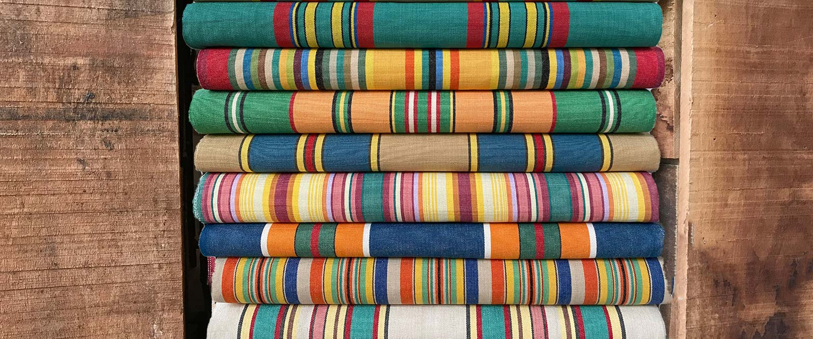 Yellow Deckchair Canvas Vintage Archive Striped Fabrics | Vintage Deckchair Fabric Waltzing Stripes