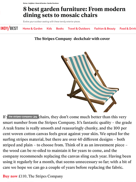 Independent - Stripes Company Deckchair July 2020