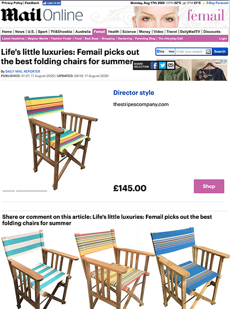 Daily Mail Femail best folding chairs for summer