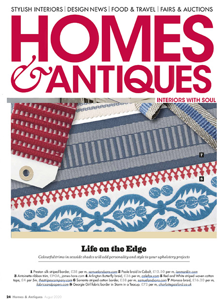 Homes and Antiques striped tape Aug 2020
