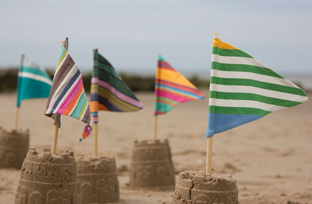 Sandcastle Flags pack of 10