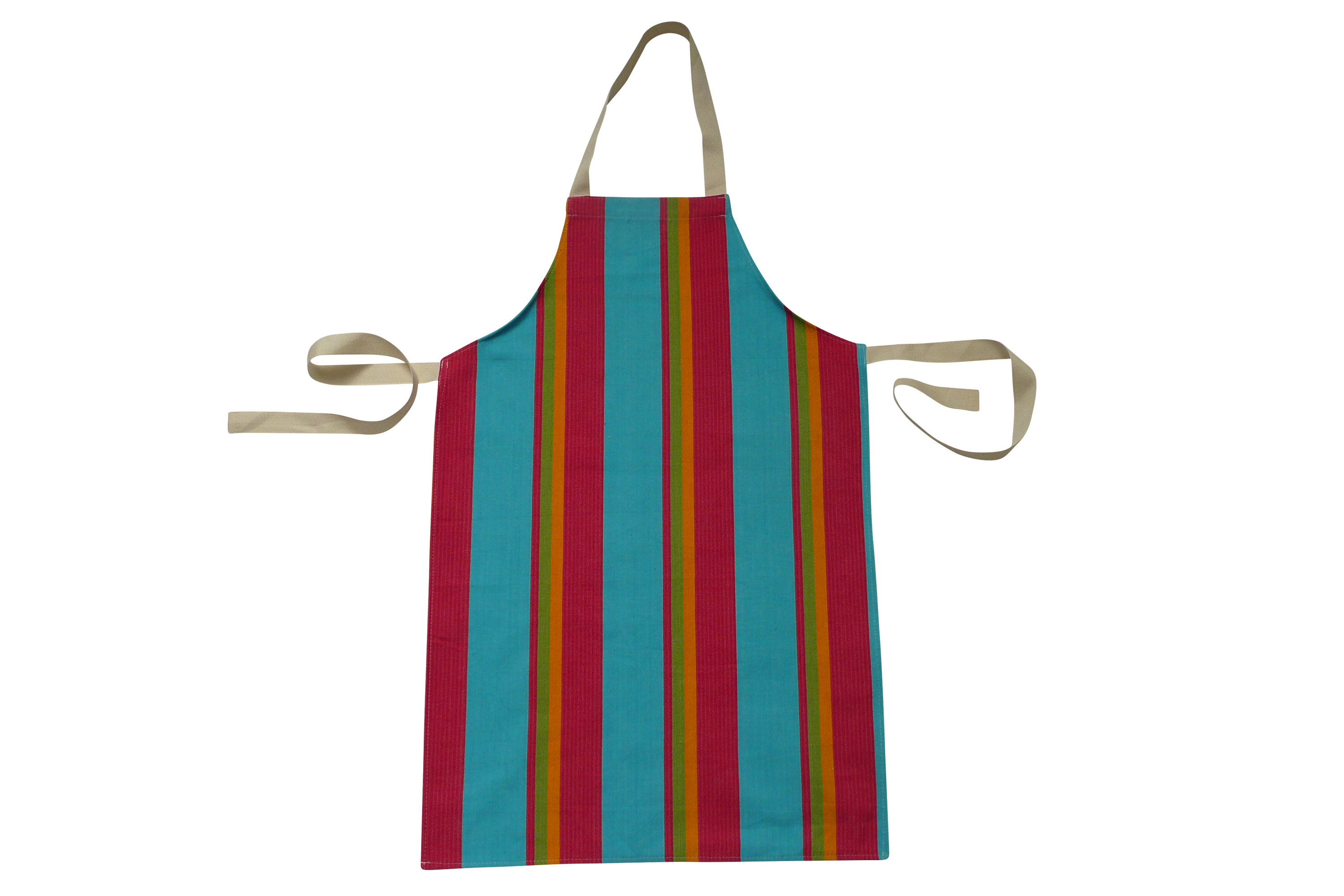 Striped Kids Aprons | Aprons for Children pink, turquoise, yellow