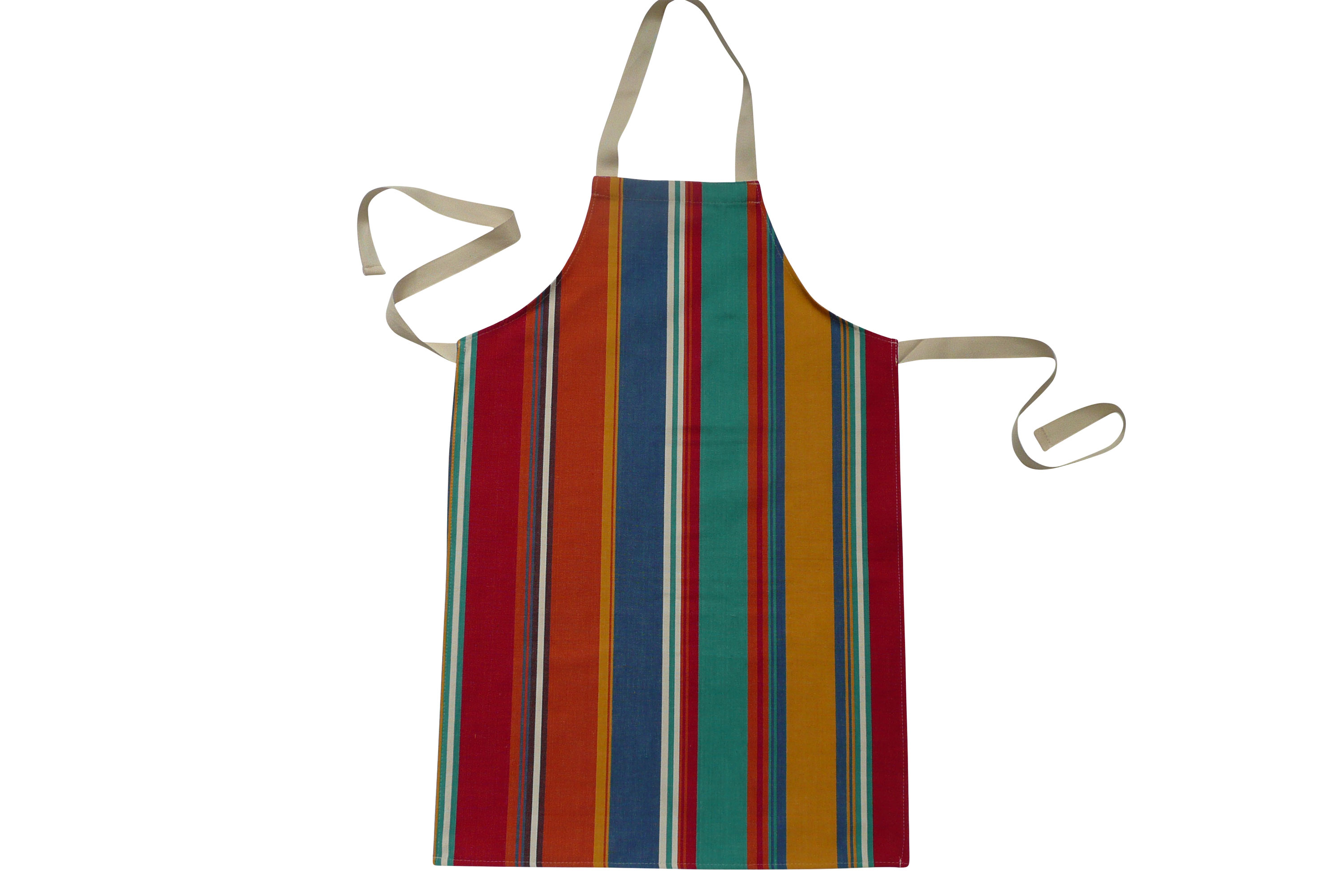 Striped Kids Aprons | Aprons for Childrenorange, blue, jade green