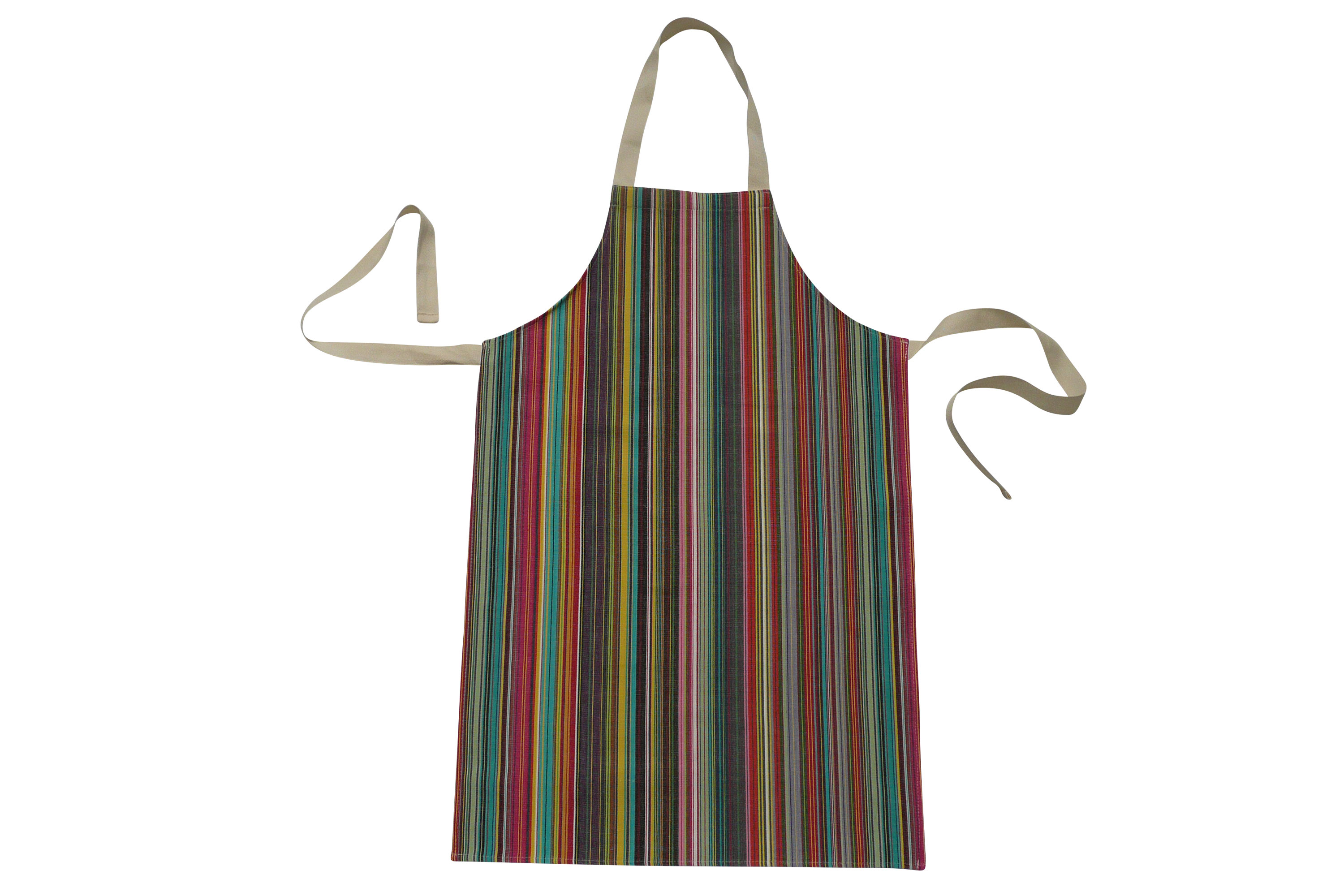 Striped Kids Aprons | Aprons for Children thin rainbow multi stripes