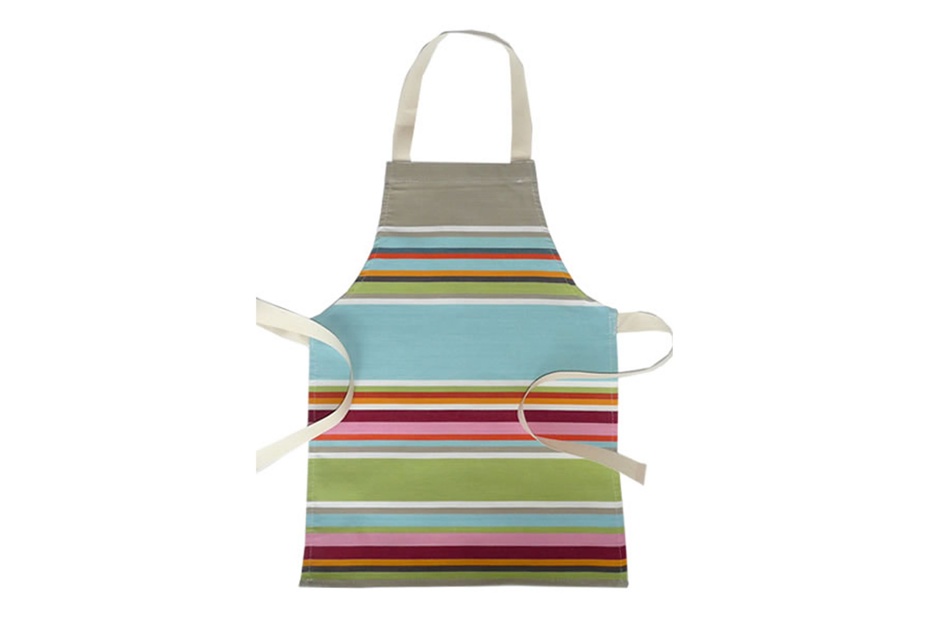 Duck Egg Blue Water Resistant Aprons for Toddlers | Small Childs Striped Aprons Duck Egg Blue  Beige  Light Green  Stripes