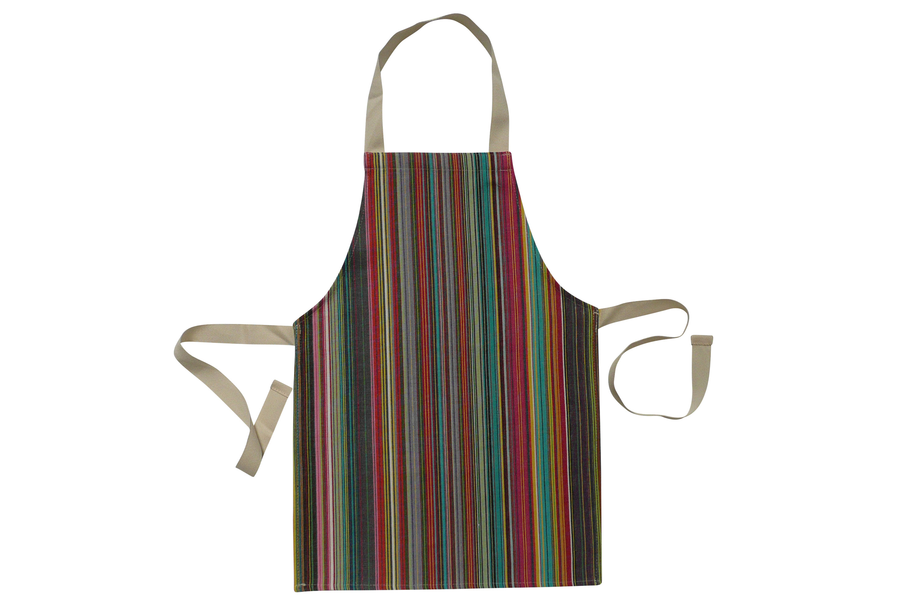 Toddlers Aprons - Striped Aprons For Small Childrenthin rainbow multi stripes