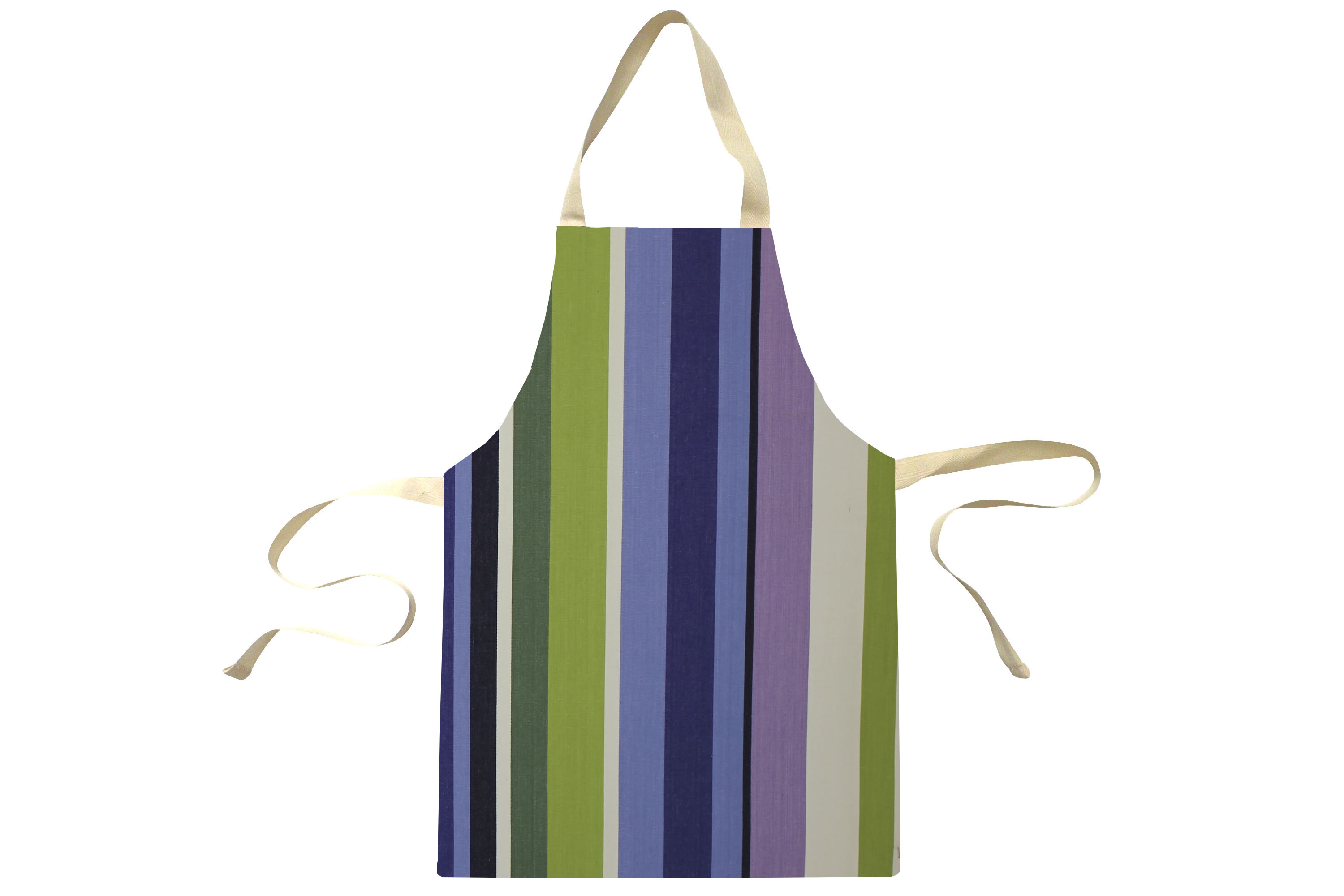 Green Water Resistant Aprons for Toddlers | Small Childs Striped Aprons Green  Blue  Purple  Stripes