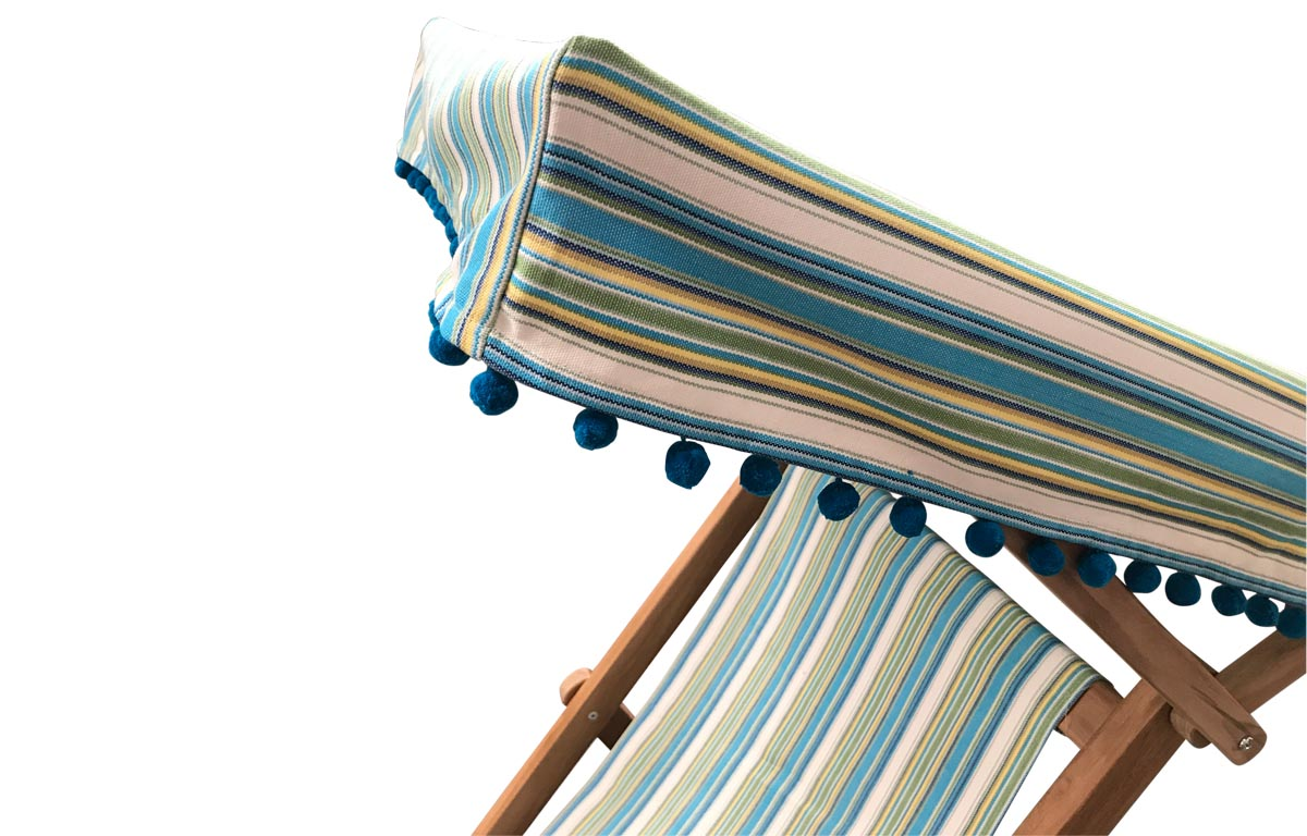 turquoise, green, white- Edwardian Deckchairs with Canopy and Footstool
