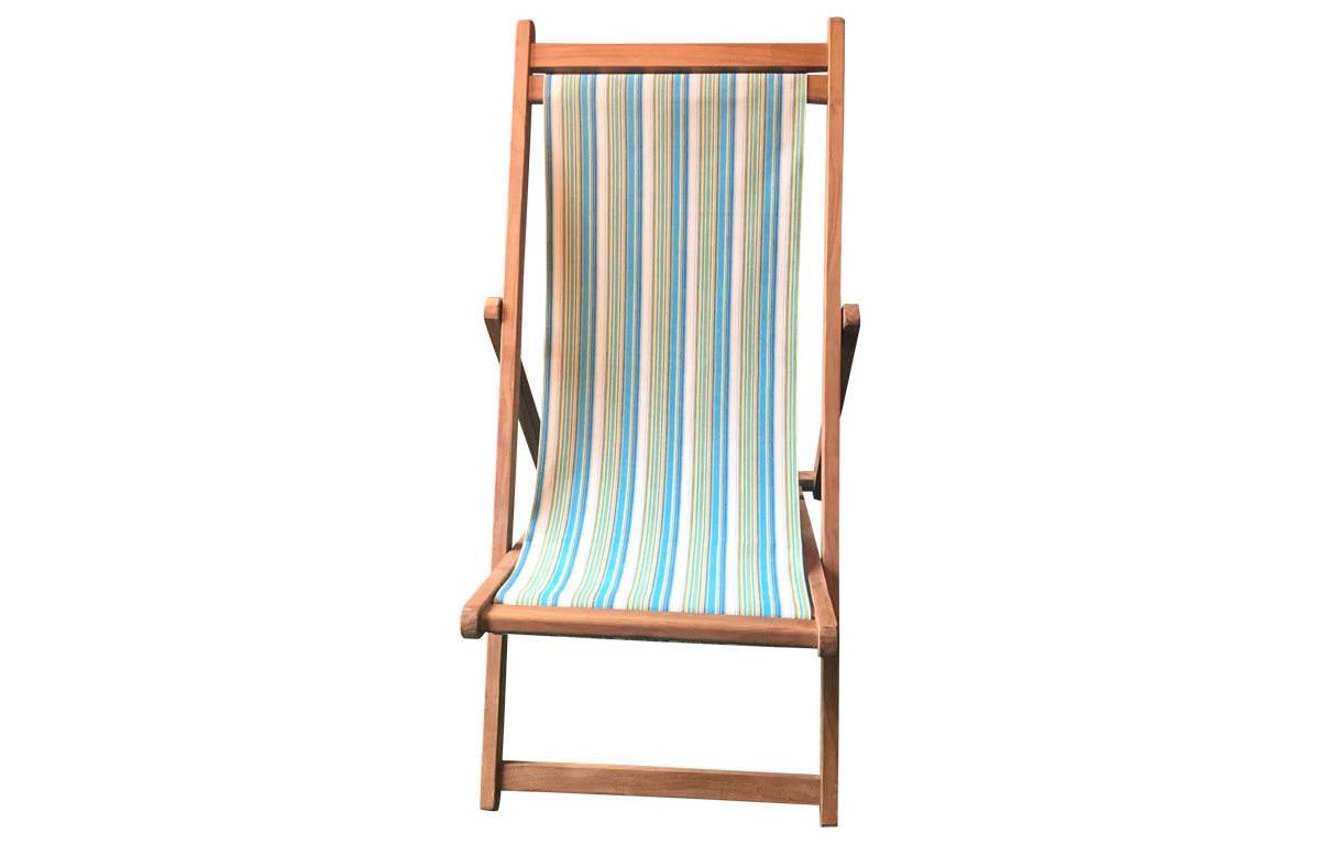 Premium Deck Chairs turquoise, green, white