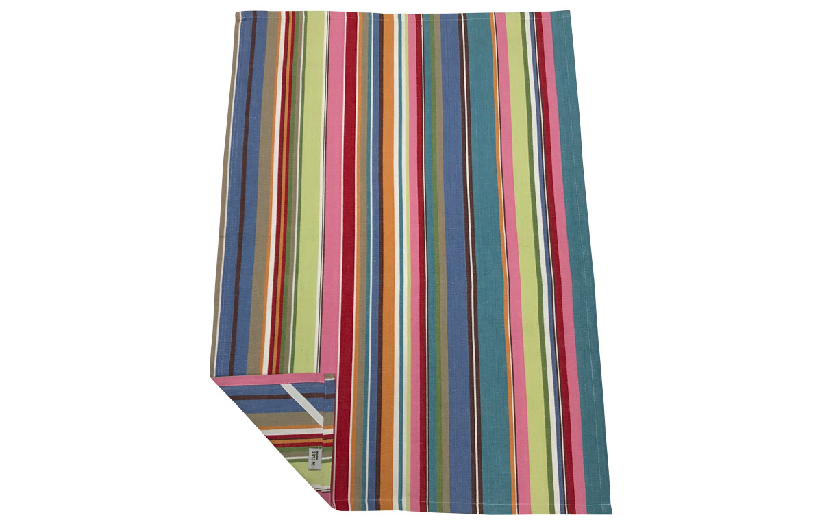Blue Pink Stripe Tea Towels | Striped Teatowels Baseball Stripes