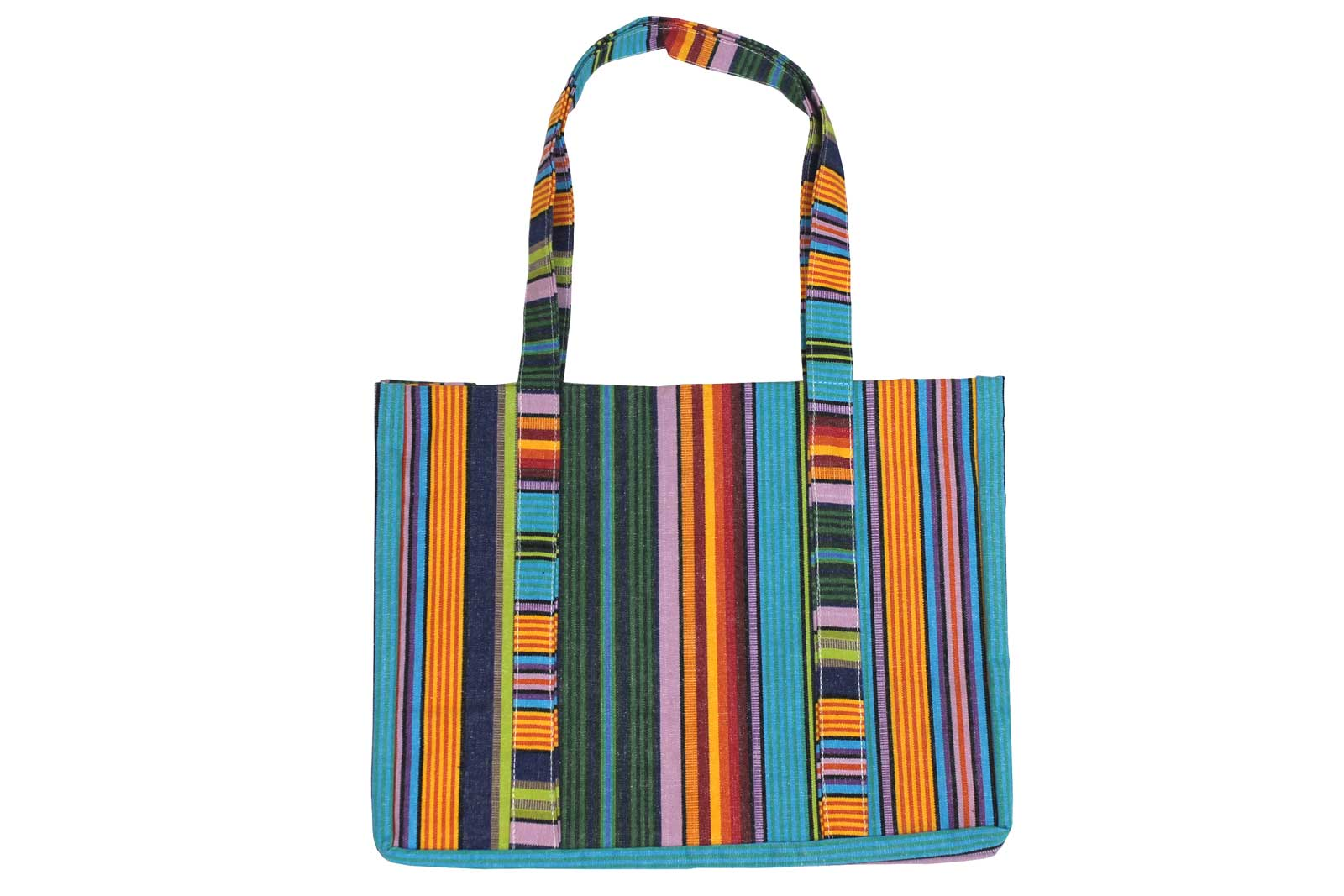 Turquoise Striped Beach Bag - Beach Tote Bag Diving Stripe