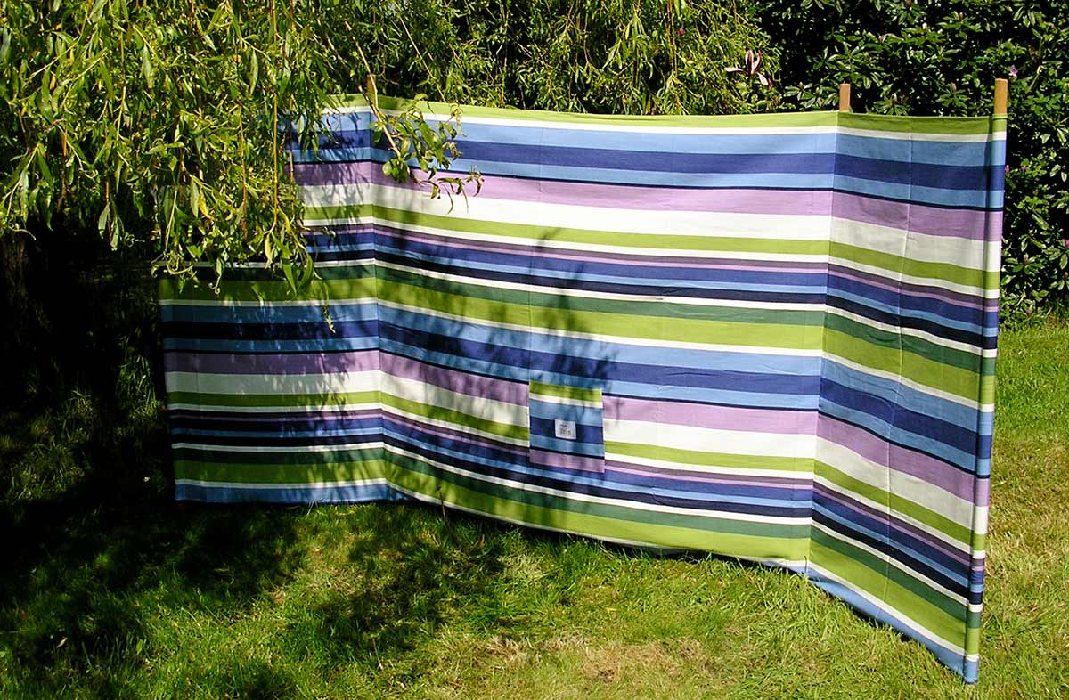 Skiing Stripe Beach Windbreak from The Stripes Company