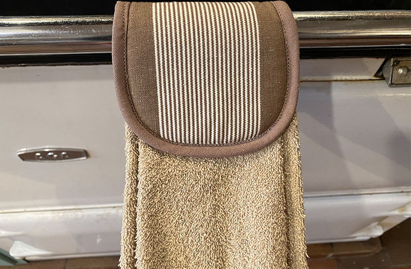 Beige Aga Towels | Taupe Hanging Hand Towels for Ranges