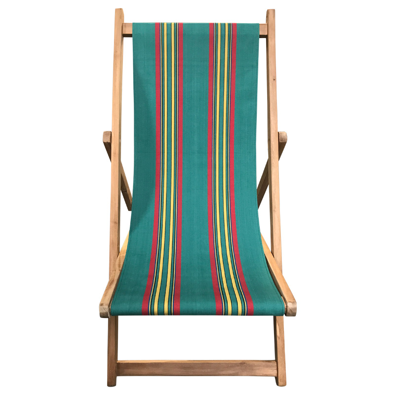retro green striped deckchair