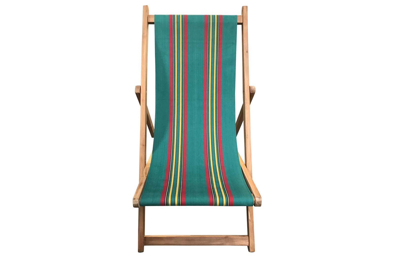 Jade green, red, yellow - Deckchairs | Buy Folding Wooden Deck Chairs